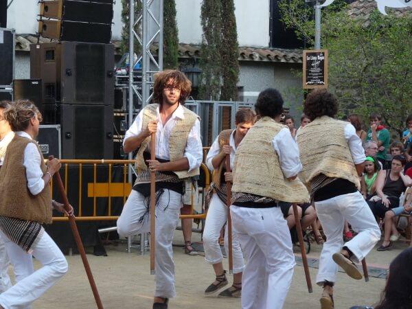 Hirtentanz Stock Festa katalonien