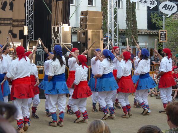 Stocktanz katalanische feste