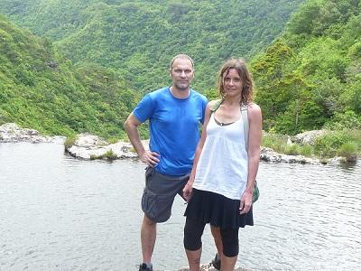 mauritius wasserfall trekking