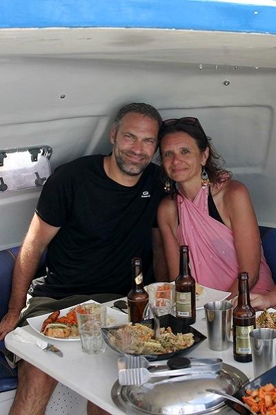 Picknick auf dem boot Mauritius