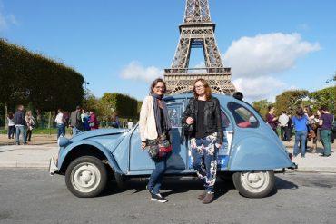 Ente und Eiffelturm in Paris