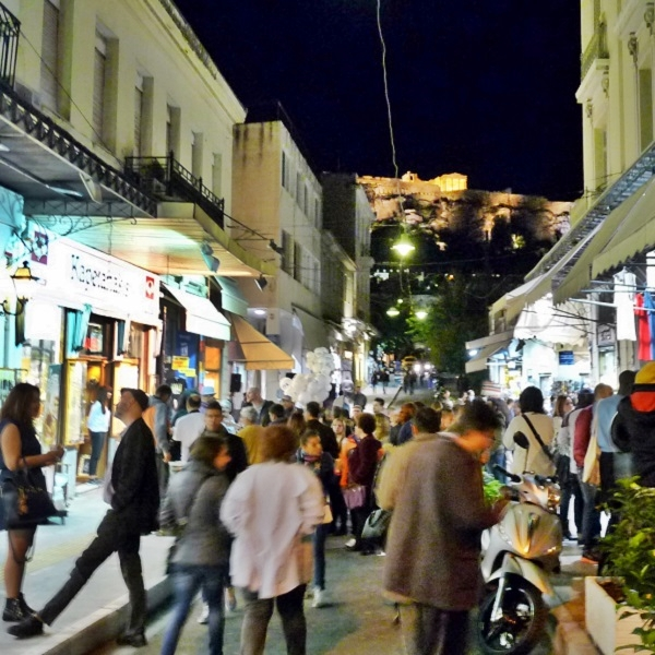 abends in athen