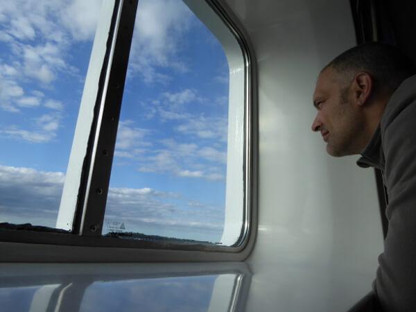blick aus der Kabine Citycruise Tallink Silja Line