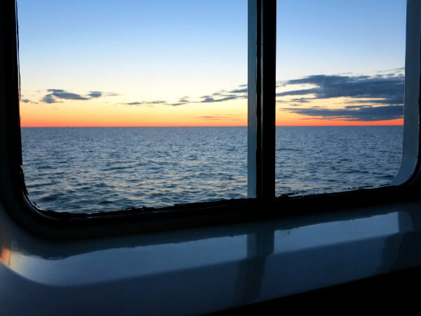 fast Sonnenuntergang Kabine Citycruise Tallink Silja