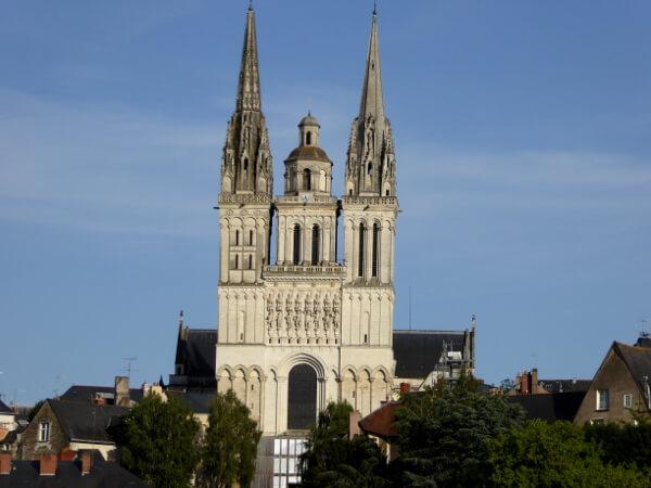Blick auf die Kathedrale von Angers Anjou