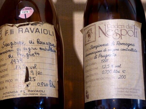 Poderi dal Nespoli Etiketten Weine der Emilia Romagna