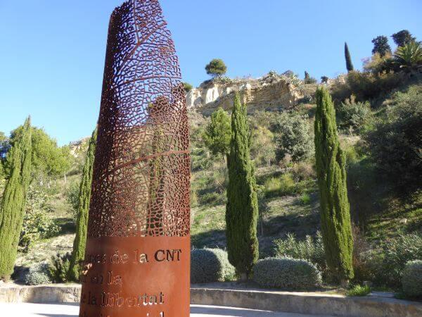 Friedhof Montjuïc Barcelona Massengrab Anarchisten Denkmal