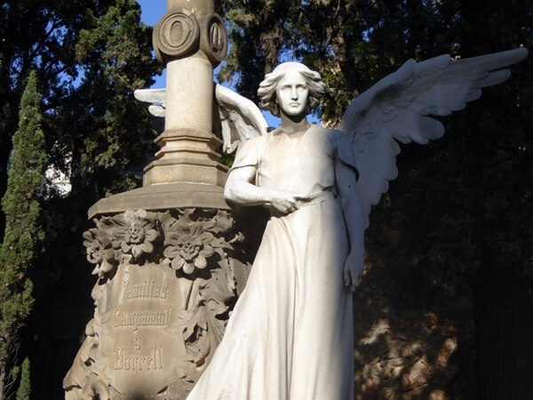 Pantheon Campassol Borrell engel von Josep Llimona Friedhof Montjuïc