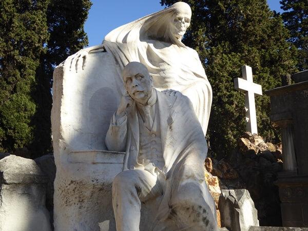 Todesengel Sepultura Nicolau Juncosa Friedhof Montjuïc