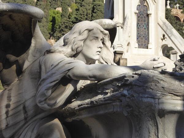 engel flehender Friedhofskunst Barcelona Pantheon Buhigas