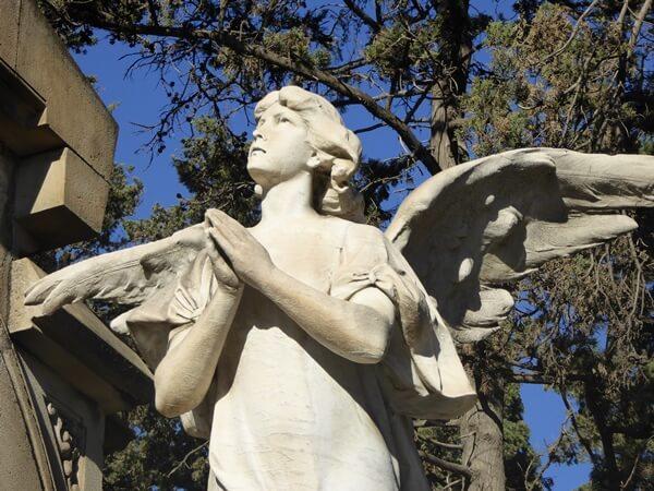 friedhof Montjuïc Barcelona Engel grab