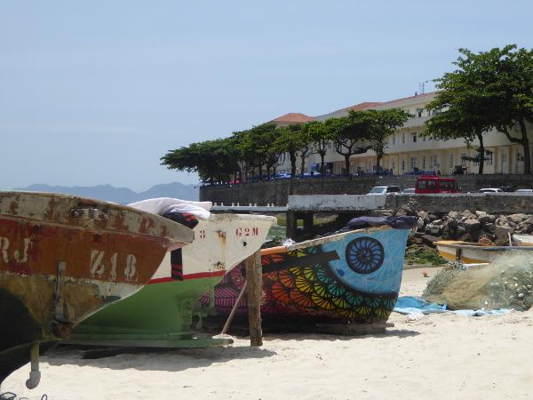 Copacabana Strand Fischerboote