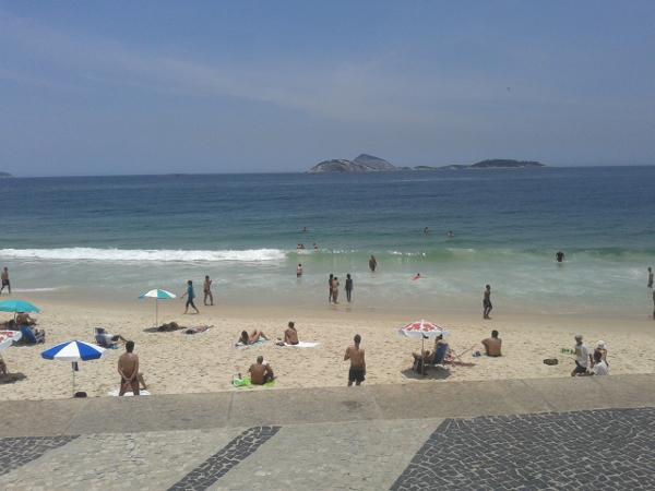 Copacabana Strand Rio de Janeiro Sonne