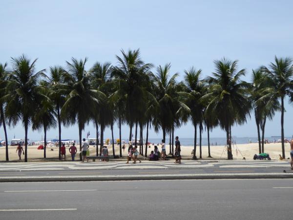 Palmen Strand Copacabana Rio de Janeiro