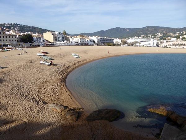 Tossa de Mar im Dezember Playa Grande