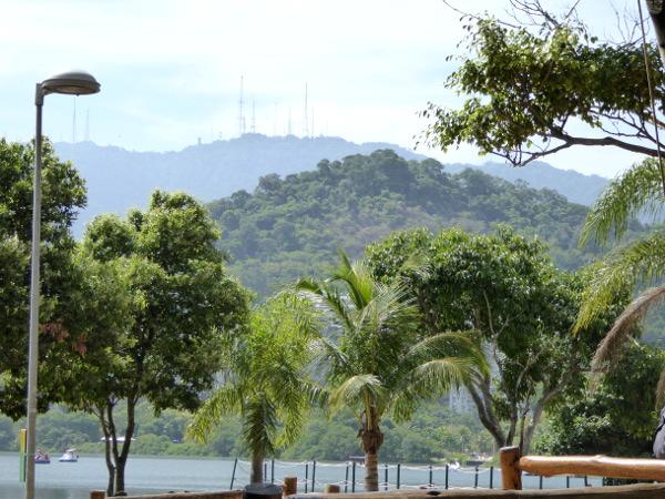 Blick auf den Gipfel des Parque Catacumba Rio de Janeiro