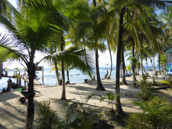 Isla Carenero Bocas del Toro buccaneer resort blick aus unserer huette