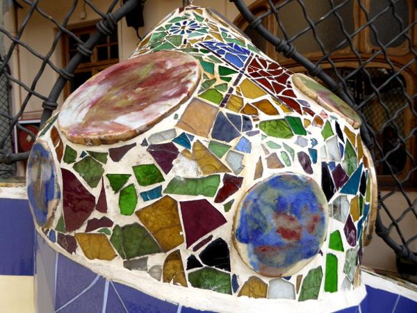 Casa Batllo Keramik Terrasse Barcelona