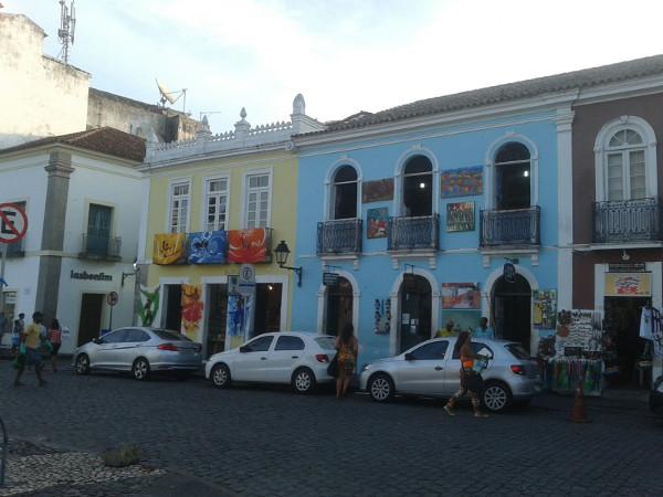 Salvador de Bahia bunte haueser