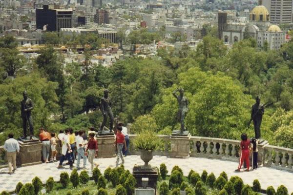 mexiko Blick vom Chapultepec-schloss