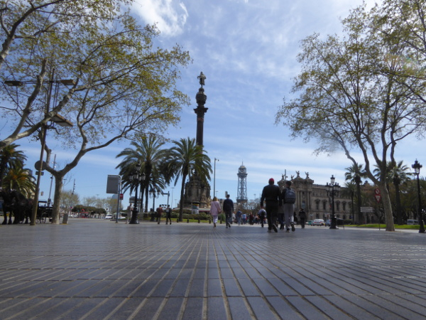 Barcelona La Rambla santa Monica Kolumbus freibeuter reisen