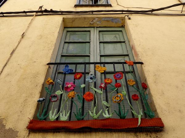 La Jonquera Fenster bestickt Freibeuter reisen