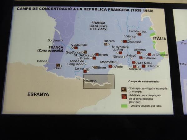 Museu de l Exili La Jonquera Lager Karte Freibeuter reisen