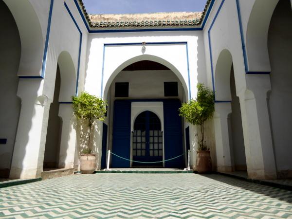 marrakesch Palais bahia eingang freibeuter reisen marokko