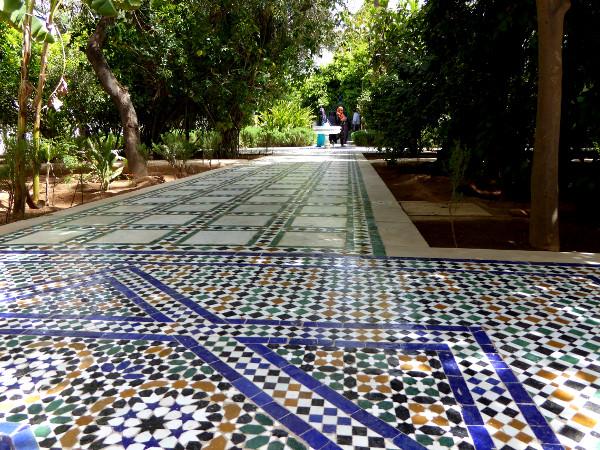 marrakesch palais bahia riad garten freibeuter reisen