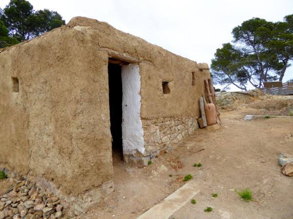 Iberer rekonstruierte Huette bei Lloret de mar turo rodo freibeuter reisen