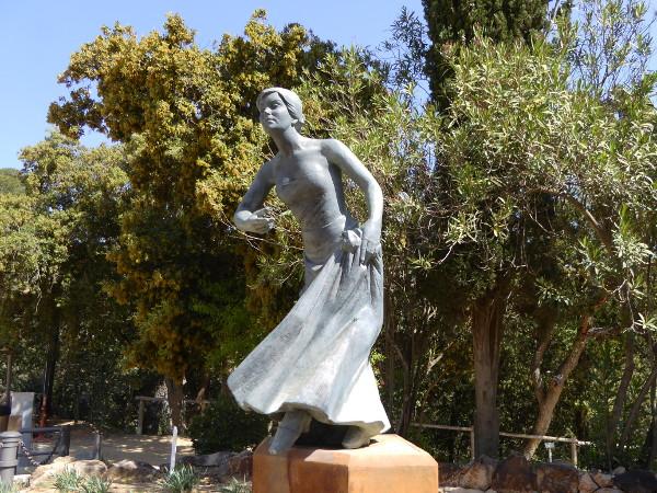 Santa Cristina ermita Tanz lloret Skulptur Freibeuter reisen