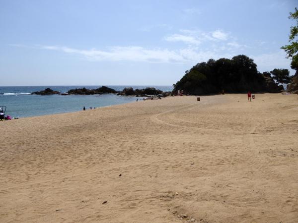 Santa Cristina strand von lloret de mar bucht costa brava freibeuter reisen