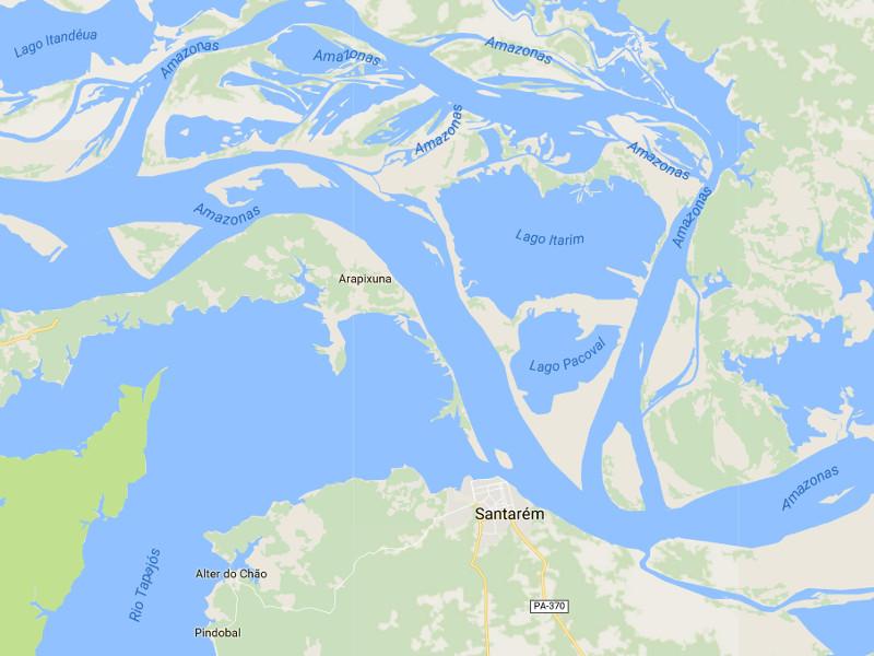 landkarte Amazonas