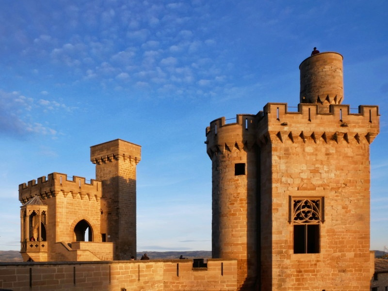 olite palacio real guardia joyosa prinzessinnen turm navarra spanien