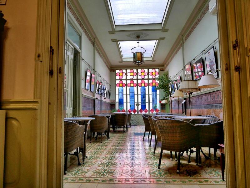 wintergarten cafeteria spielzeugmuseum sant feliu de guixols