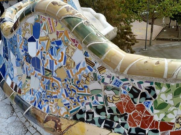 Mosaik Gaudi Parc Guell Barcelona