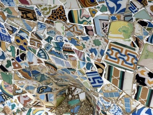 Mosaik Parc Guell Gaudi Barcelona