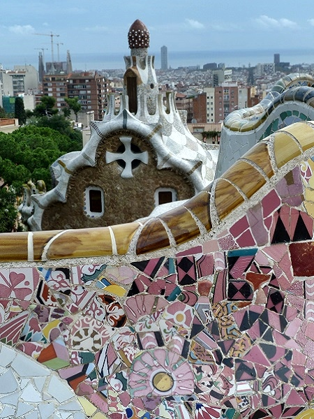 Parc Guell Gaudi Barcelona Bank