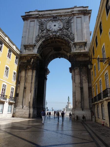 Lissabon altstadt Hafen Tor