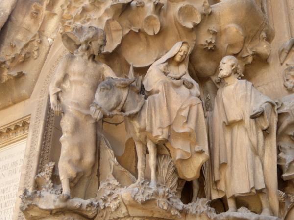 esel geburtsfassade sagrada familia barcelona freibeuter reisen.