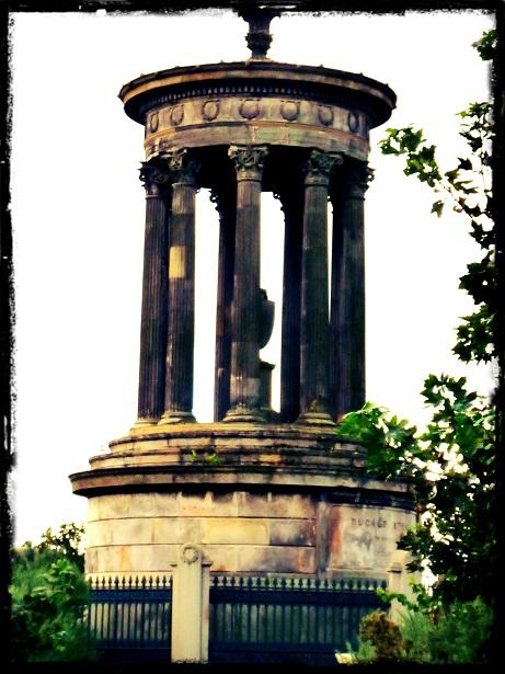 Edinburgh Calton Hill Dugald Stewart Monument