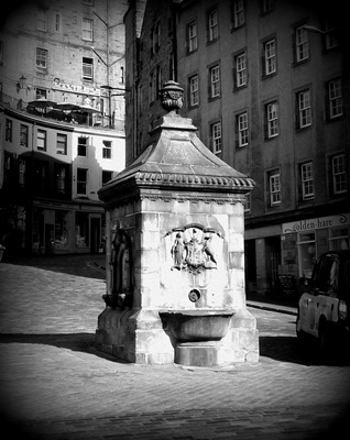 grassmarket well head edinburgh trinkbrunnen
