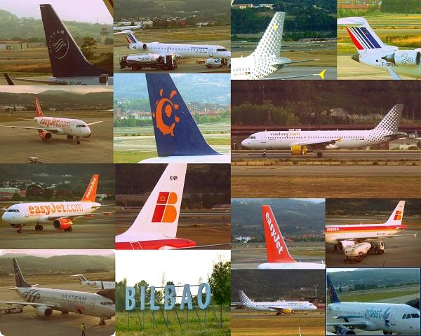Airlines in Bilbao Flughafen Airport Aeropuerto
