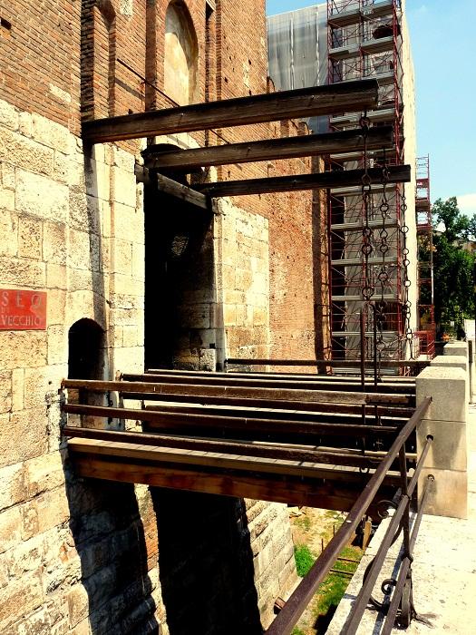 Verona Castelvecchio Zugbrücke und Ponte Sacagliero