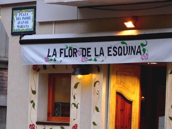 Toledo Spanien Restaurant flor de la esquina