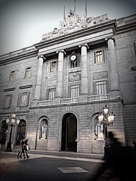 Barcelona Barrio Gotico Rathaus Ajuntament Barri gòtic