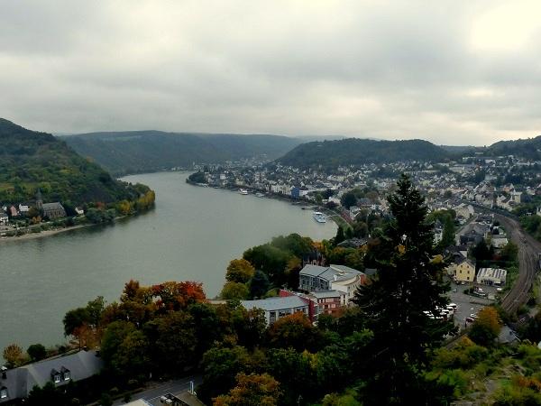 Blick Boppard auf den Rhein