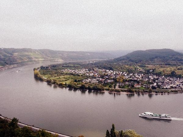 Rhein in Boppard Aussicht Sesselbahn