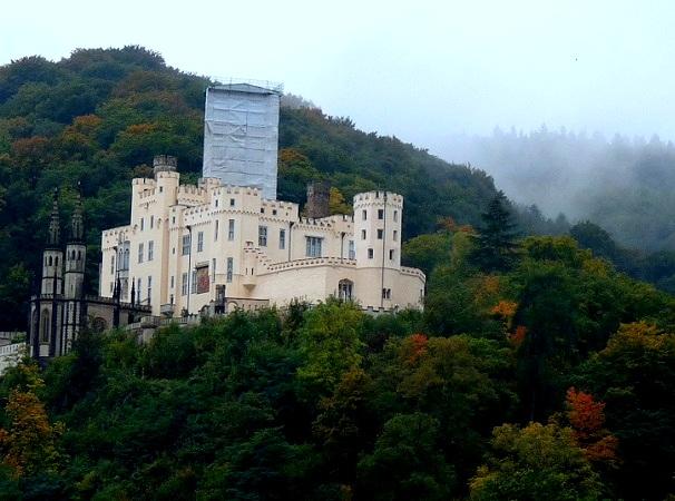 Burg Koblenz Rhein  Dampfer