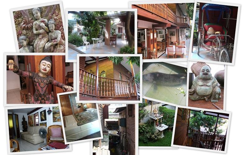 Baan Kao Unterkunft in Bangkok Terrasse